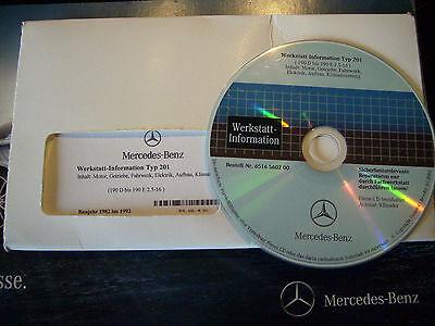 Original Mercedes Benz W201, Wis Wartungs u. Reparaturhandbuch auf CD