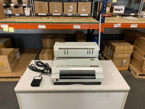 CoilMac-ECI Manual Punch/Electric Inserter 4:1 Round - Serviced & Tested