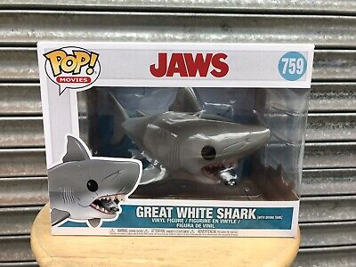 Pop Funko Jaws With Tank Figure Collectible Great White Shark