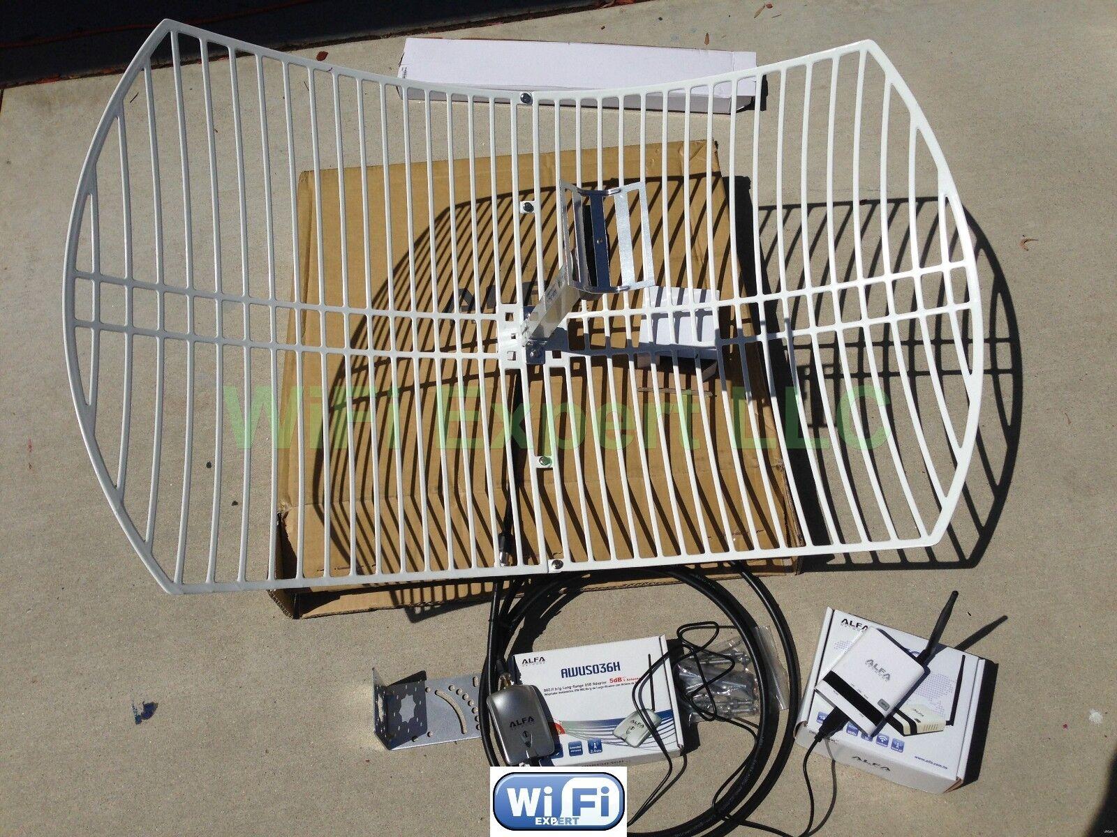ALFA WiFi Anten dBi GRID R AWUSH Long Range Booster GET