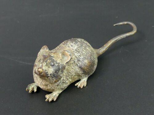 ANTIQUE AUSTRIAN COLD PAINTED BRONZE FIGURE OF A RAT C.1900