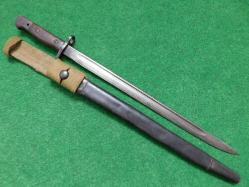 BRITISH BAYONET M 1907 WITH SCABBARD AND FROG - WILKINSON
