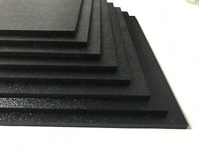 Abs Black Plastic Sheet 18 X 12 X 12 Textured 1 Side Vacuum Forming Pack 8