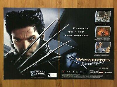 X-2 Wolverine's Revenge PS2 Xbox 2004 Vintage Print Ad/Poster Hugh Jackman X-Men