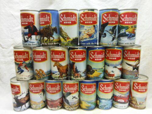 SCHMIDT WILDLIFE SCENE 21 BEER CANS-COMPLETE SET