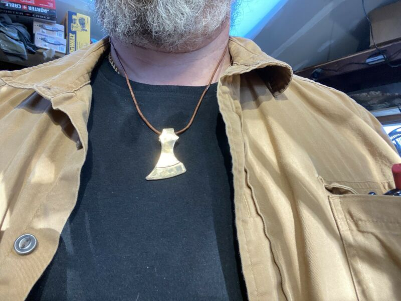 Viking Axe Necklace By Chris Levatino