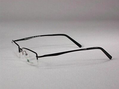Acetate Temples Frame - Eyeglass Frames Glasses Half-Rim Men Women Metal+ acetate temples Black-Brown