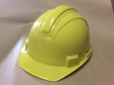 YELLOW HARD HAT, RAM CAP CONSTRUCTION SAFETY HELMET
