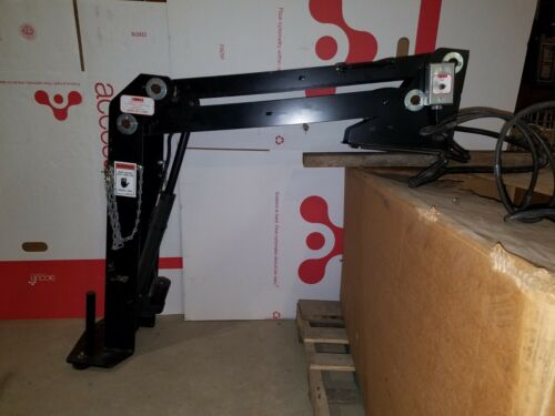 12V Electric Davit Crane, BOSS Tool Lift Truck bed Cherry Picker Jib FREE SHIP!