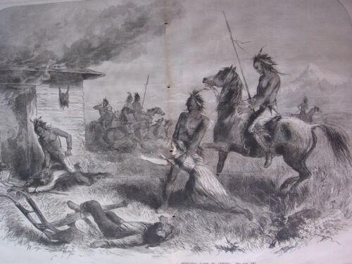 1885 Western Frontier Print - Massacre On A Settler