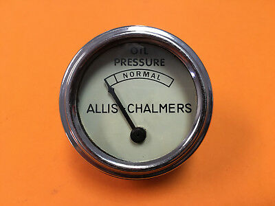 Allis Chalmers Tractor B C Ca Wc Wd Wd45 Oil Pressure Gauge Chrome 70203805