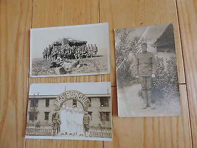 Vintage Postcard Military Real Photo Lot B & C School (pc616)