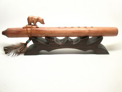 Native American Flute Whistle Recorder Stand Holder Display Gift #1172