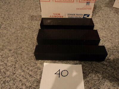 Black Plastic Delrin Acetal Sheetblock Lot 3 Pieces Cnc Mill 40