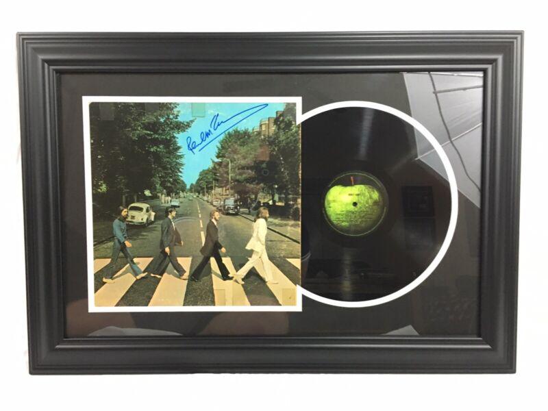 Paul McCartney Signed The Beatles Abbey Road Vintage Vinyl Framed JSA LOA