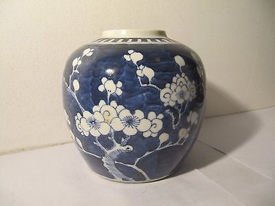 Chinese Porcelain Blue Blossom Double Circle Mark Vase