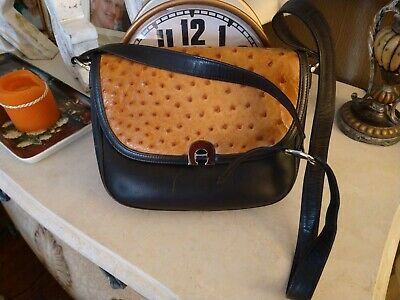 Vintage Gucci Ostrich Leather Shoulder Bag VERY Rare Gucci Made In Italy