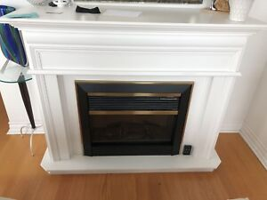 Brand new fire place with frame is for sale with remote.