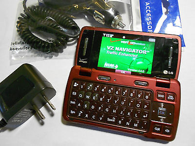 GOOD! LG EnV3 vx9200 Envy Red Camera QWERTY Bluetooth Flip VERIZON Cell Phone