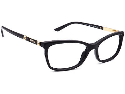 Versace Eyeglasses MOD. 3186 GB1 Black/Gold Full Rim Frame Italy 52[]16 140