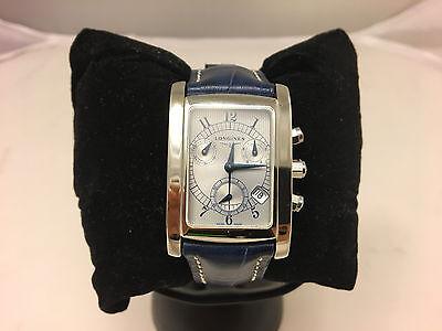 Longines DolceVita Chronograph Mens Unisex L5.656.4 Silver dial Leather strap