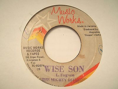 Mighty Diamonds - Wise Son, JA Music Works, VG+  Top Reggae Roots '81