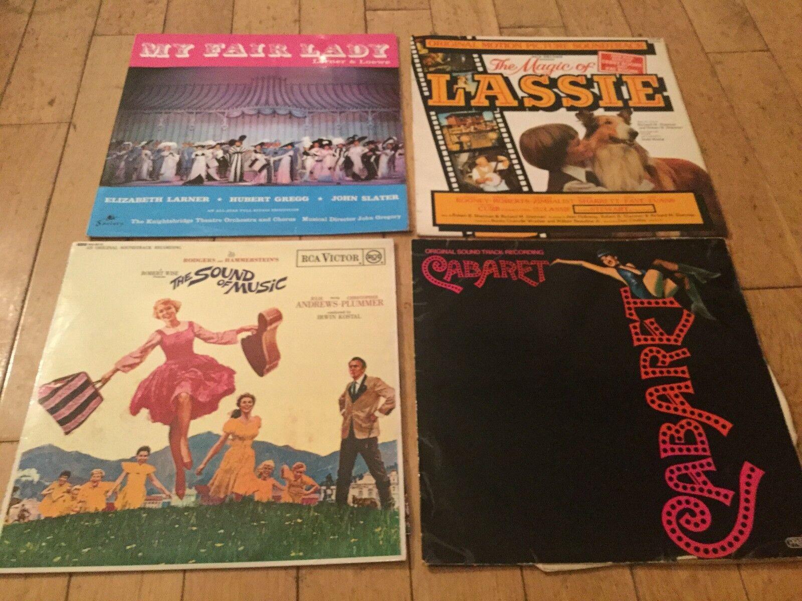 A set of 4 Soundtrack LP records