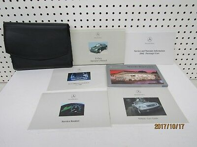 2002 Mercedes Benz E Class Owners Manual Set     FREE SHIPPING