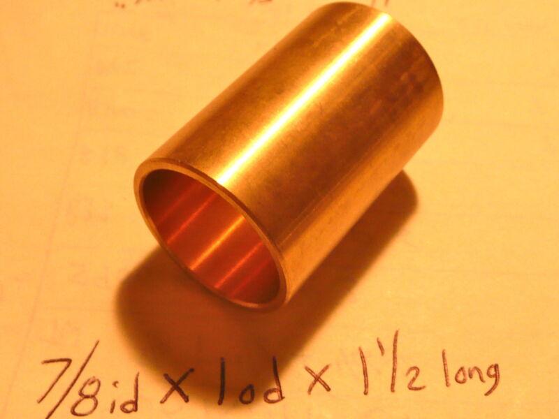 Bronze Bushing Bearing New 7/8 id x 1 od x 1 1/2 Brass motor gearbox oilite new