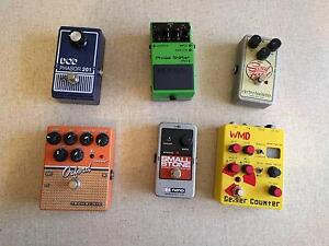 Guitar pedal sale (EHX, Boss, DOD, WMD, Tech 21) Burwood Whitehorse Area Preview