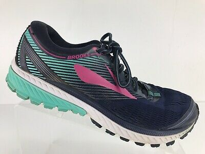 1ce6afa8101 Brooks Ghost 10 Blue Athletic Running Trainers Shoe Sneakers Women s US 9.5  B