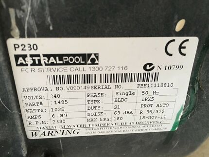 Astral electric pool heater pool gumtree australia melville area used astral 3 speed pool pump freerunsca Choice Image