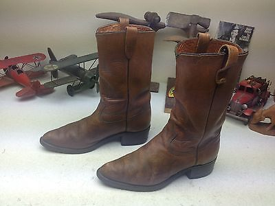 DISTRESSED BROWN VINTAGE TEXAS LEATHER DIRTY OLD WAGON TRAIL BOSS BOOTS WORK 9 D