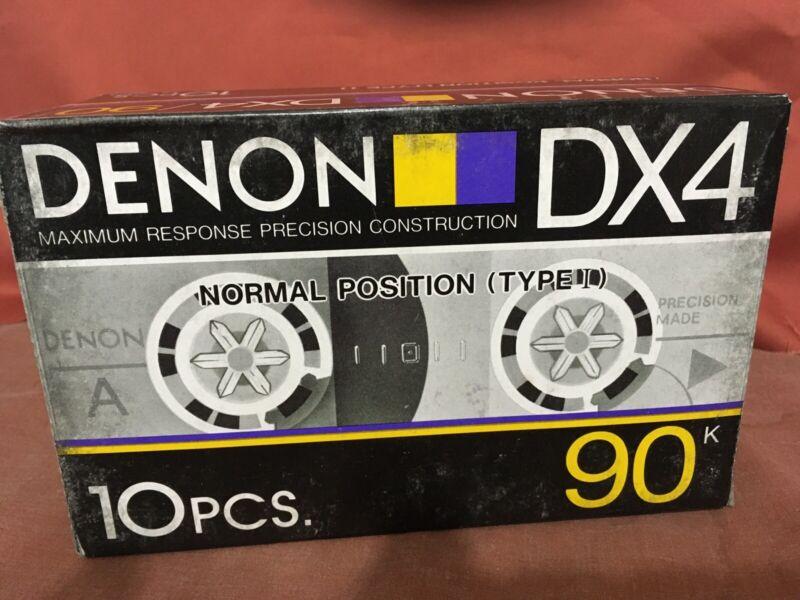 Box Of 10 Denon DX4-90 Audio Cassette Tapes Vintage NOS