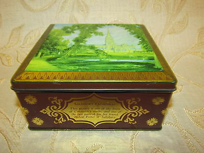 Antique Collectable The World's Thorne's Premium Toffee Tin Box - 1930's