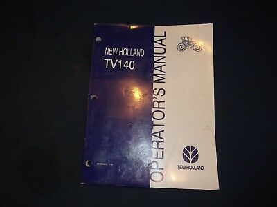 New Holland Tv140 Tractor 7614 Loader Operation Maintenance Manual Book