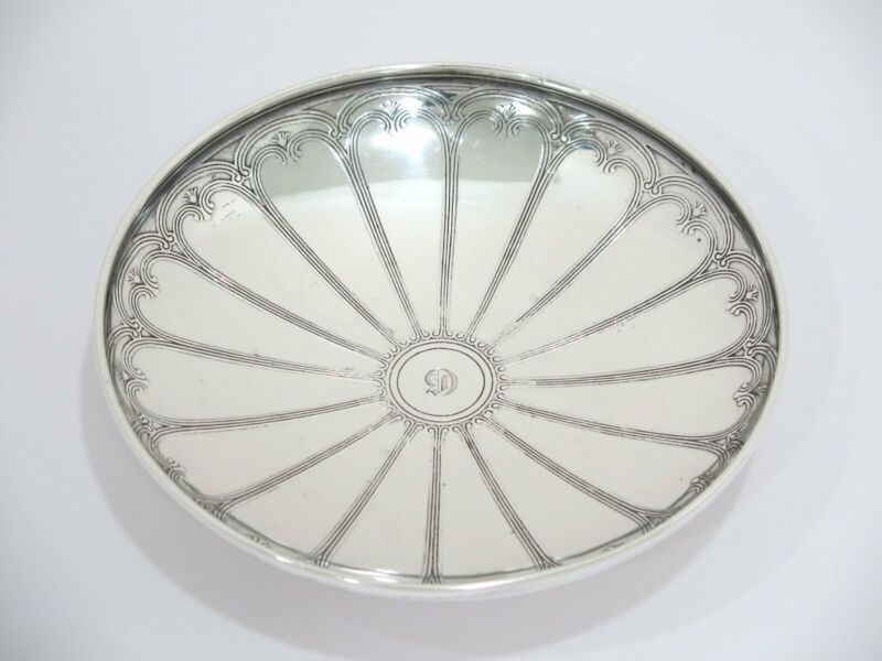 7.25 in - Sterling Silver Tiffany & Co. Antique Footed Serving Plate