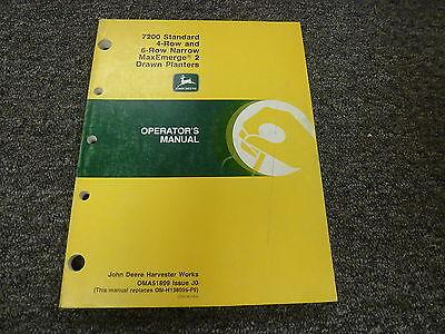 John Deere 7200 4 6 Row Narrow Drawn Planter Owner Operator Manual Oma51899