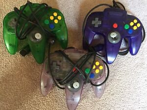 3 official N64 Controllers
