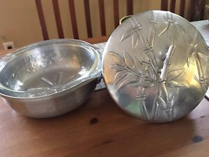 Vintage Pyrex Dish with Aluminium Serving Dish and Lid
