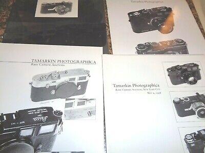 6 TAMARKIN PHOTOGRAPHICA RARE CAMERA AUCTION CATALOGS 1997, 1998, 1999