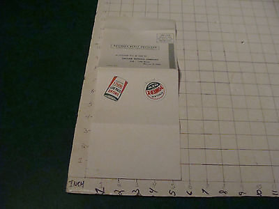 Original Vintage Paper  1957 Application For Sinclair Gas Credit Card Unused
