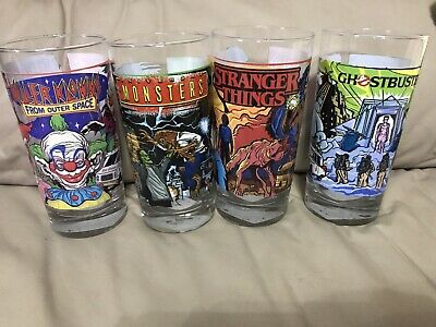 New Halloween Horror Nights 2019 HHN 29 Collectible Glass Complete Set 4 Piece 4 Piece Complete Set