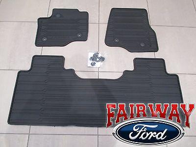 17 Super Duty OEM Ford All Weather Mat Set 3 pc EXTENDEDCREW for VINYL FLOORS