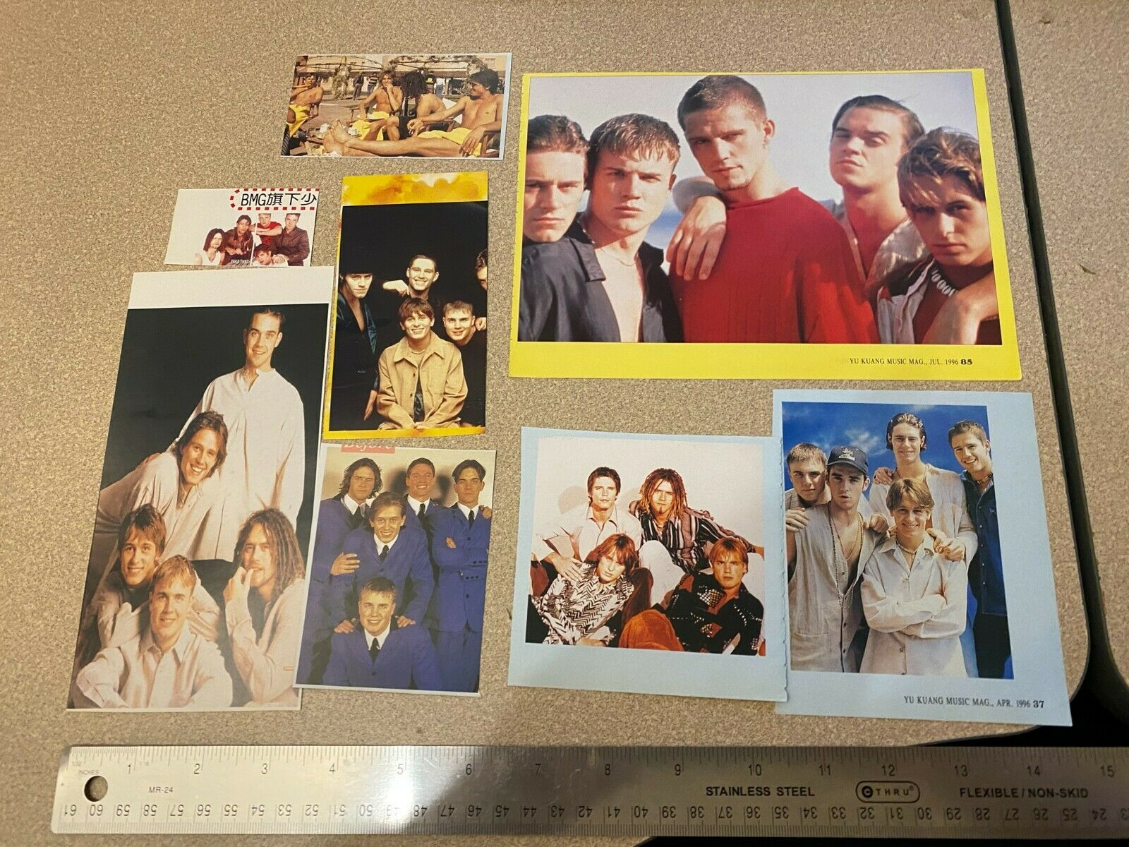 Take That pop Band 90s Magazine Clippings Cuttings Photos From Taiwan - $5.00