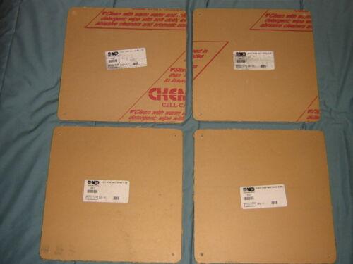 "4X DMP 697 ACRYLIC PLASTIC KEYPAD WALL COVER PLATES 9""X9"" - NEW"