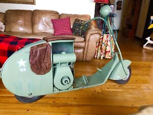 1930-45 scooter antique clinton U.S army