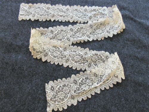 "ANTIQUE FRENCH VALENCIENNES LACE INSERTION TRIM...  .. ANTIQUE DOLLS...55"" X 3"""