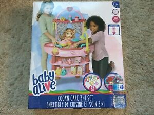 BRAND NEW IN BOX - BABY ALIVE COOK AND CARE SET