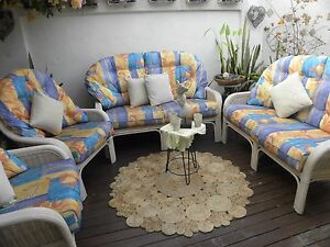 4 Pce Cane Wicker Lounge Furniture Set Outdoor Chairs Suite Biggera Waters Gold Coast City Preview